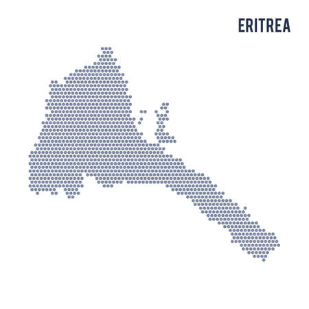 Hexagon map of Eritrea . Business space in the country