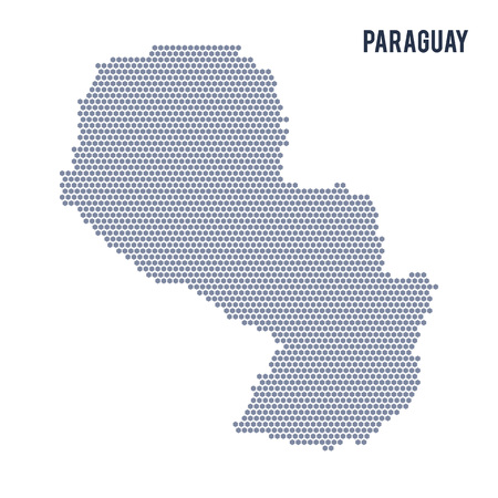 Vector hexagon map of Paraguay . Business space illustration of the country. Illustration