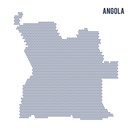 Vector hexagon map of Angola . Business space in the country Illustration