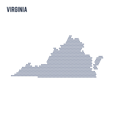 Vector hexagon map of State of Virginia. Business space illustration of the state.