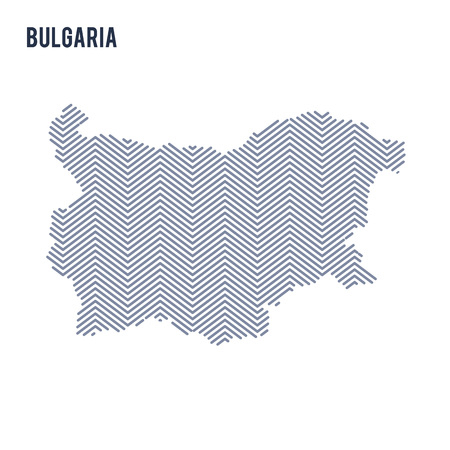 Vector abstract hatched map of Bulgaria isolated on a white background. Travel vector illustration.