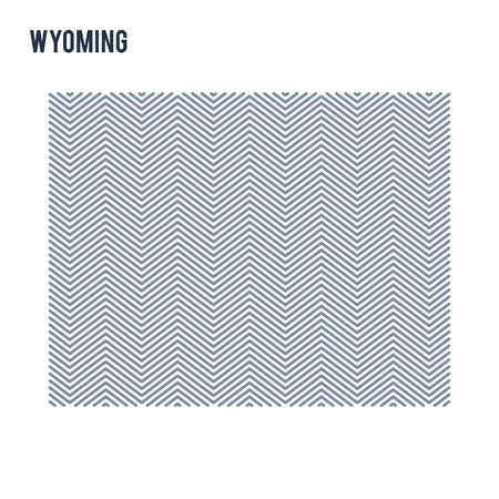 Vector abstract hatched map of State of Wyoming isolated on a white background. Travel vector illustration.