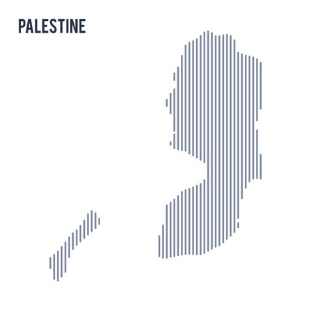 asian business: Vector abstract hatched map of Palestine with vertical lines isolated on a white background. Travel vector illustration. Illustration