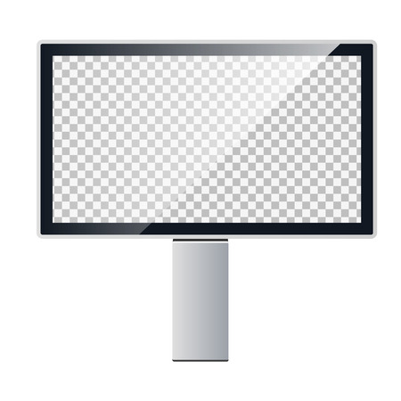 Vector template of a billboard