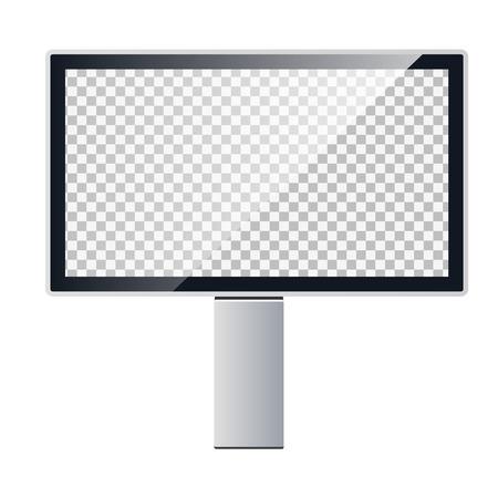 Vector template of a billboard