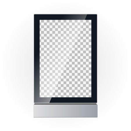 Vector template of an advertising board display Illustration