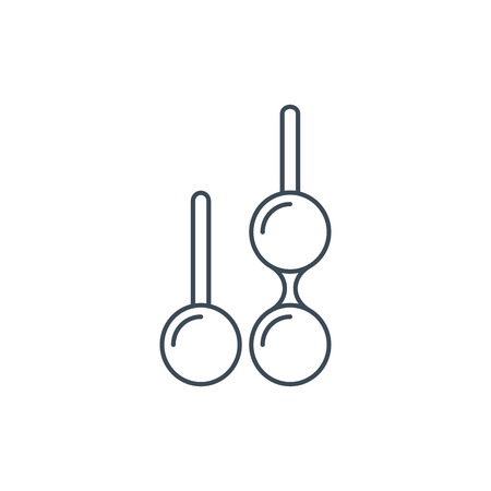 The linear vector icon kegel or vaginal isolated on white background.