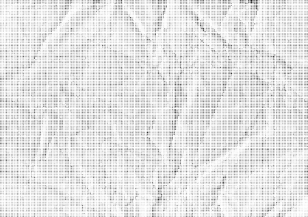 Vector background halfton crumpled paper. Halftone texture to overlay on the illustration