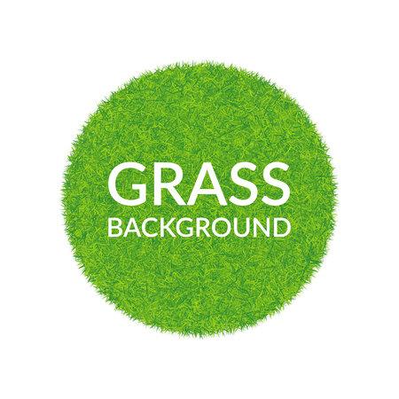 Green grass round background on white background.
