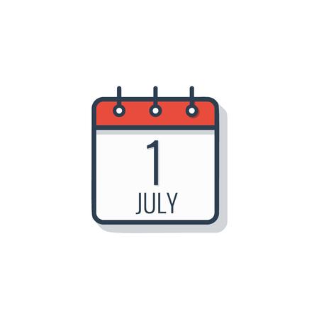 Icône de jour calendrier isolé sur fond blanc.