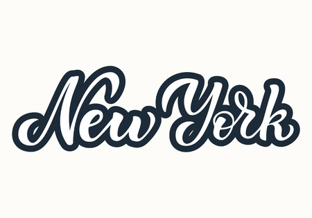 New York Hand Drawn Lettering.Vector illustration. EPS 10 Vectores