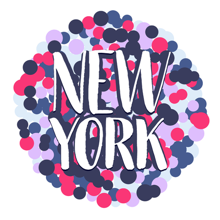 Illustration de lettrage dessiné à la main de New York. EPS 10