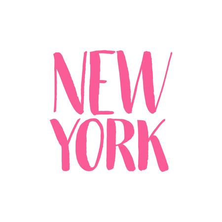 New York Hand Drawn Lettering.Vector illustration.