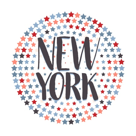 New York Hand Drawn Lettering.Vector illustration.