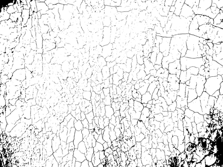 Grunge vector texture template with cracks. Overlay distress background.