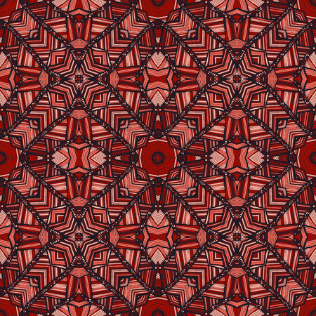 Vector seamless ethnic pattern with axial symmetry. Can be used for fabric, textile, packaging paper.