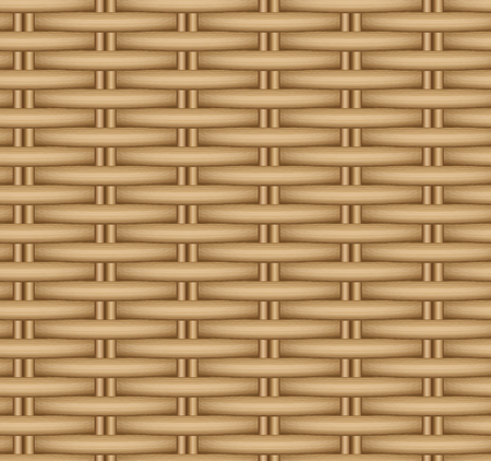 Texture transparente de vecteur d'un panier en osier. Tissage de rotin.