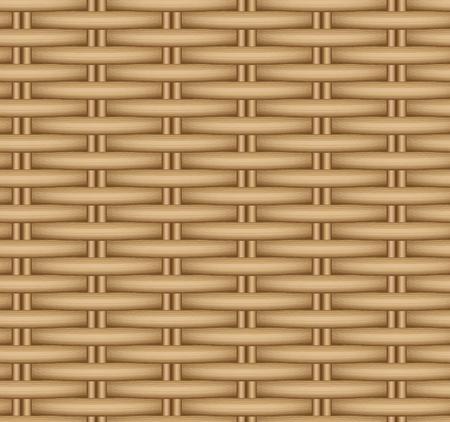 Vector seamless texture of a wicker basket. Rattan weave.
