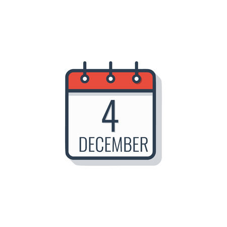 Calendar day icon isolated on white background.