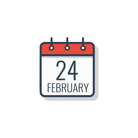 Calendar day icon isolated on white background. Vector illustration.