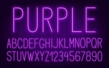 Neon high purple font on dark background.