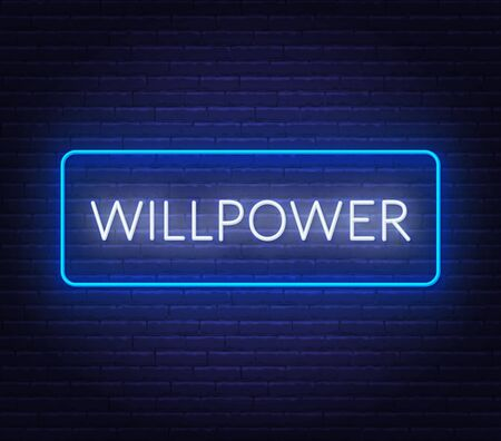 Will Power neon sign on dark background.