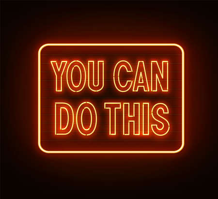 You can do this neon quote on black background.