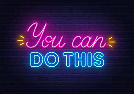 You can do this neon quote on brick wall background.