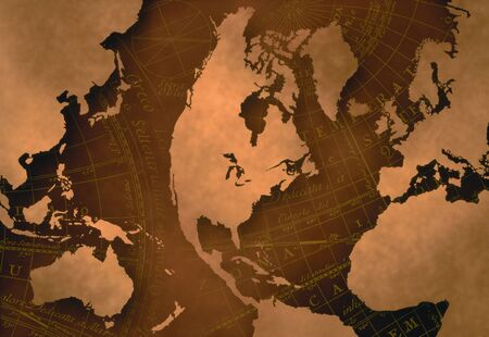 cartographical: World Map on Navigational Map LANG_EVOIMAGES