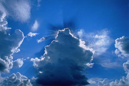 Sunrays Through Clouds