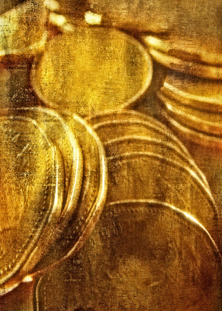 exclusive photo: Close-Up of Pile of Coins LANG_EVOIMAGES