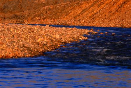 truelove: Close-Up of Truelove River Devon Island, Nunavut, Canada
