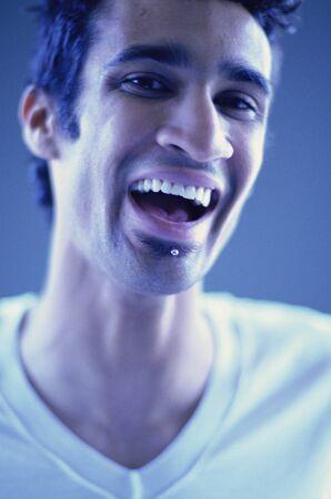 pierce: Portrait of Man Laughing