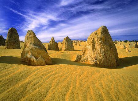 Pinnacles in Sand Nambung National Park Australia