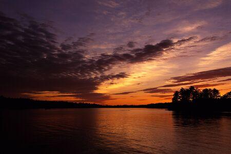 stoney: Lake and Trees at Sunrise, Stony Lake, Ontario, Canada