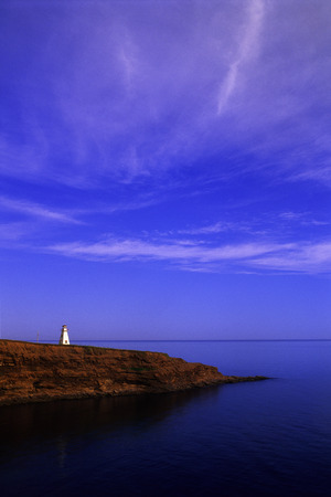 Cape Tryon Lighthouse and Gulf Of St. Lawrence, Cape Tryon, Prince Edward Island, Canada LANG_EVOIMAGES