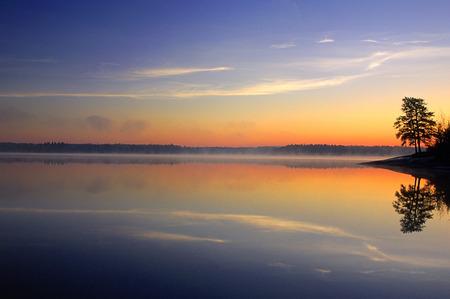 Caddy Lake at Sunrise, Whiteshell Provincial Park, Manitoba, Canada