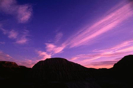 Sunset, Dinosaur Provincial Park, Alberta, Canada
