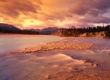 Mt. Loudon, Kootenay Plains, North Saskatchewan River, Alberta, Canada