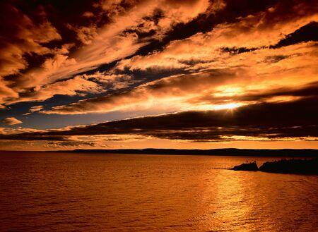 Sunset, Cape Enrage, Chignecto Bay, New Brunswick, Canada