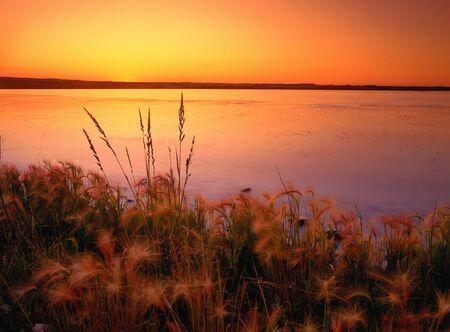 Sunset, Saskatoon Island Provincial Park, Alberta, Canada