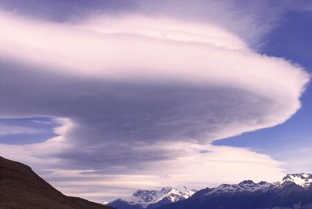 Clouds over Patagonian Icefield, Argentina