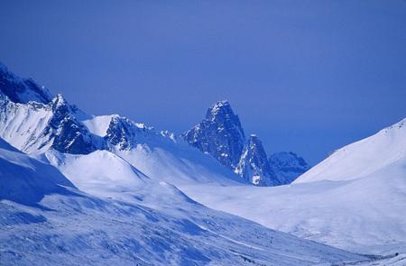Tombstone Mountain, Ogilvie Mountain Range, Yukon, Canada