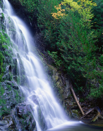 Waterfall, Forillon National Park, Quebec, Canada