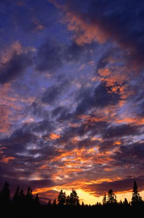 Sunset near Cape Blomidon, Bay of Fundy, Nova Scotia, Canada