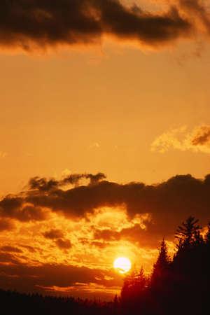 Sunset, Grass River, Manitoba, Canada LANG_EVOIMAGES