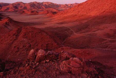 Sunset on Mountain Desert, Richtersveld, Namaqualand, South Africa