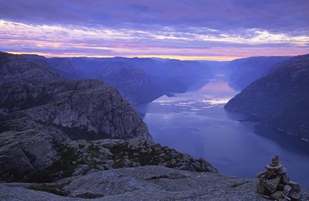 Lysefjord at Dawn, Ryfylke, Norway
