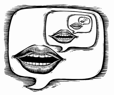 repeated: Illustration of Translation Concept LANG_EVOIMAGES