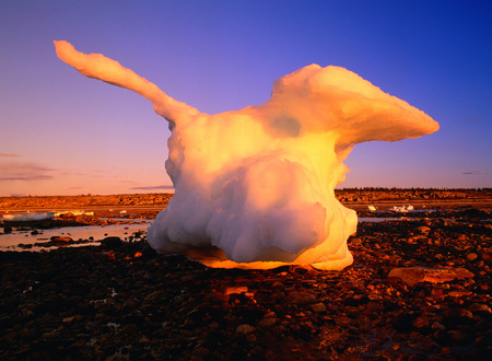 Iceberg at Low Tide, Hudson Bay, Manitoba, Canada LANG_EVOIMAGES